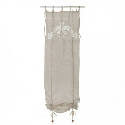 WINDOW CURTAIN WITH PUSH-UP