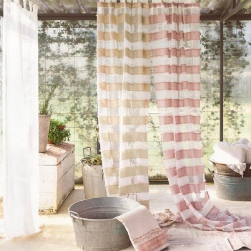 STRIPY CURTAIN WITH LOOPS