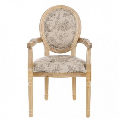 WOODEN CHAIR FILLED WITH ARMRESTS