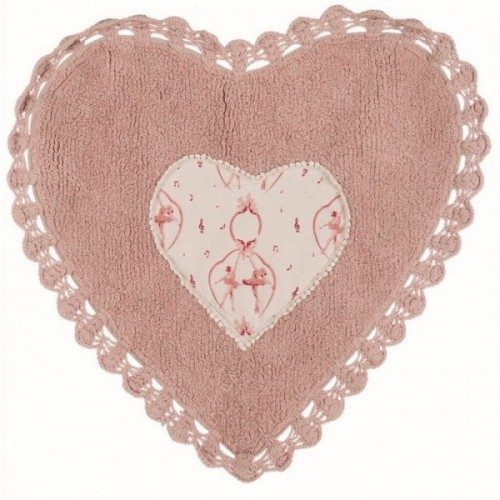 HEART RUG WITH CROCHET 1300 GSM