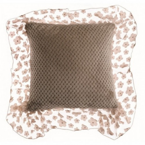 CUSHION WITH LACE RUFFLE