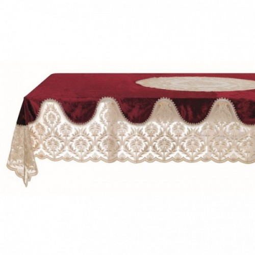 TABLE CLOTH WITH LACE BORDER