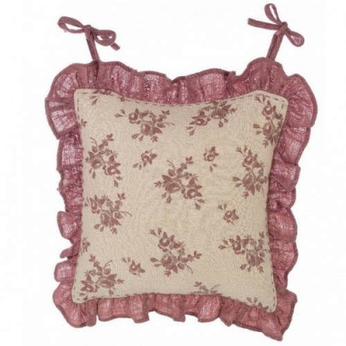 CHAIR CUSHION COVER WITH FRILL 6 CM