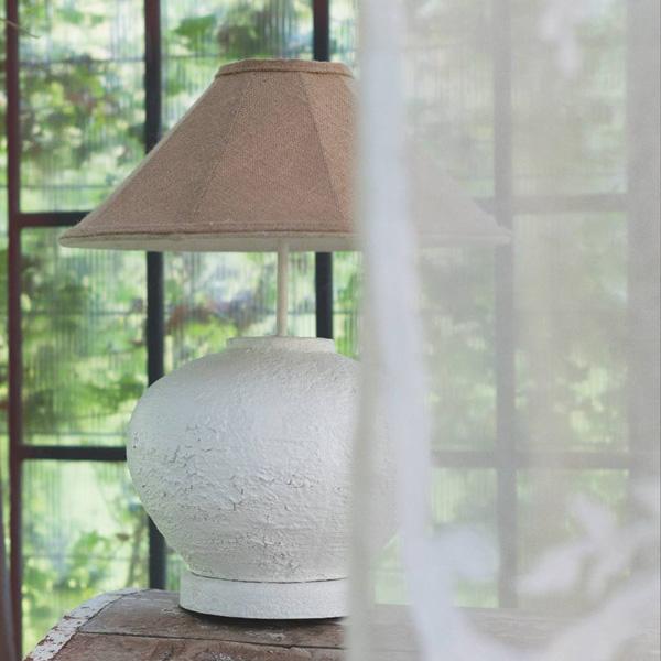 lampada con paralume